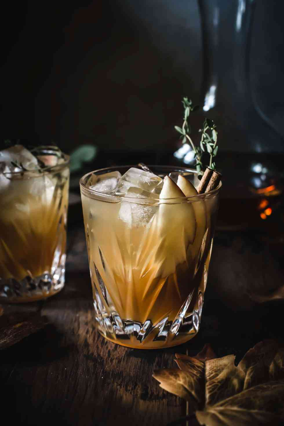 apple cider maple fizz
