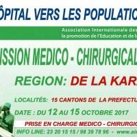 Communiqué de la mission médico-chirurgicale KARA 2017