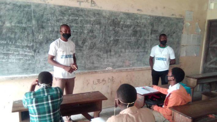 Coronavirus : Le Club AIMES-AFRIQUE de l'Université de Kara sensibilise les élèves dans la Kozah