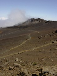 The interior of Haleakala Volcano on Maui Island, Hawaii.