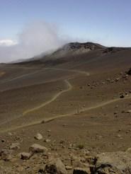 The interior of Haleakala Volcano on Maui Island, Hawaii.