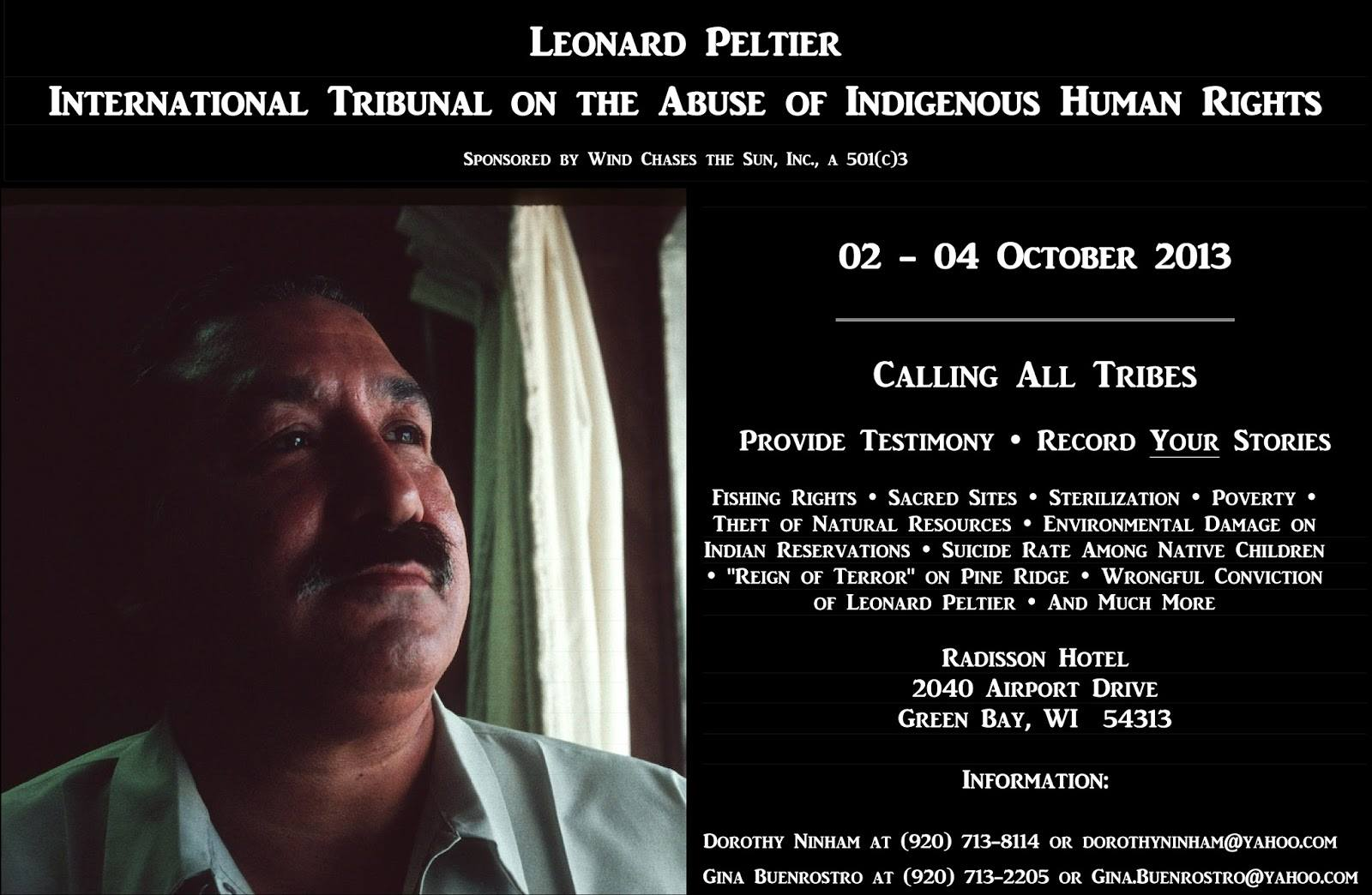 Image result for Leonard Peltier conference Green Bay