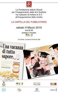 2° Mostra itinerante:  LA CARTELLA DEL PUBBLICITARIO - 9 MARZO 2019 @ MUSEO MAIO
