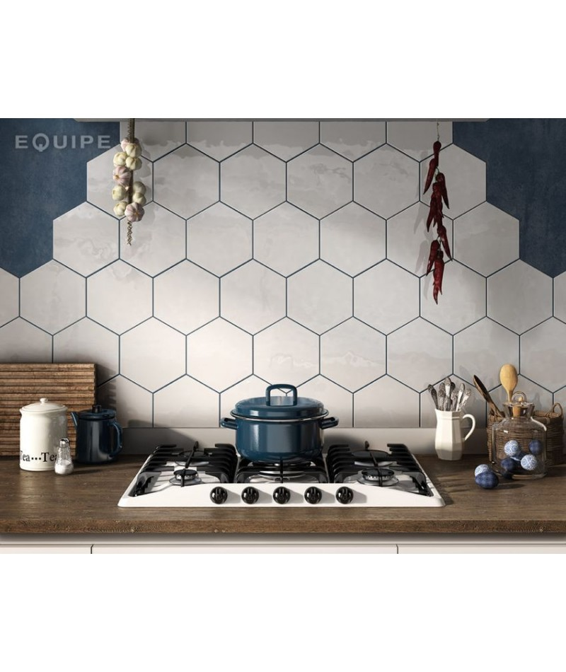 carrelage mural hexagonal blanc