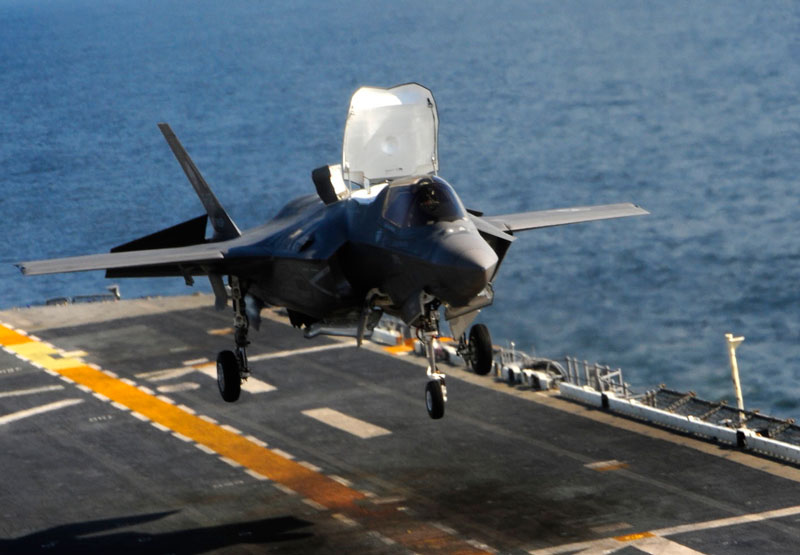 F35 Makes First Carrier Landing BAE Wins Alternative Helmet Contract  Defense News Aviation
