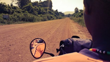 Riding motorbikes in Ghana- Travel in Ghana. Ainsley about the world