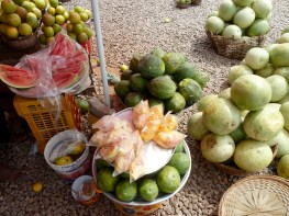 Delicious tropical fruit in Ghana.