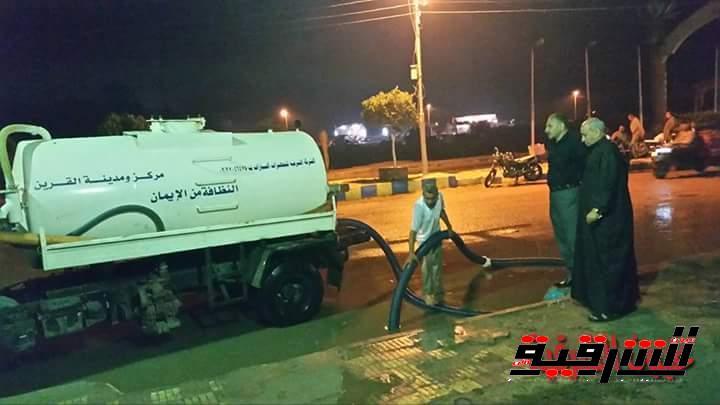 بالصور .. مجلس مدينة القرين يقوم بسحب مياه الأمطار من شوارع المدينة
