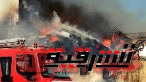 حريق بمخزن الفول السوداني بأبوحماد