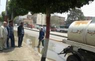 رئاسة مدينة أبوحماد تقوم بشفط مياه الأمطارمن الشوارع