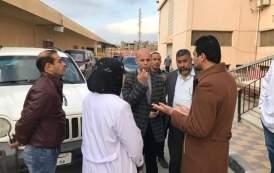 وكيل وزارة الصحة ومدير الرعاية الحرجة يتفقدان سير العمل بمستشفى الصالحية الجديدة(صور)