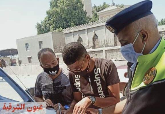 تغريم 32 سائق لعدم الإلتزام بإرتداء الكمامة الواقية لمواجهة فيروس كورونا المستجد بالشرقية