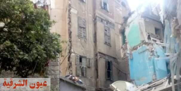 هبوط أرضي يتسبب فى إخلاء 3 عقارات بالإسكندرية