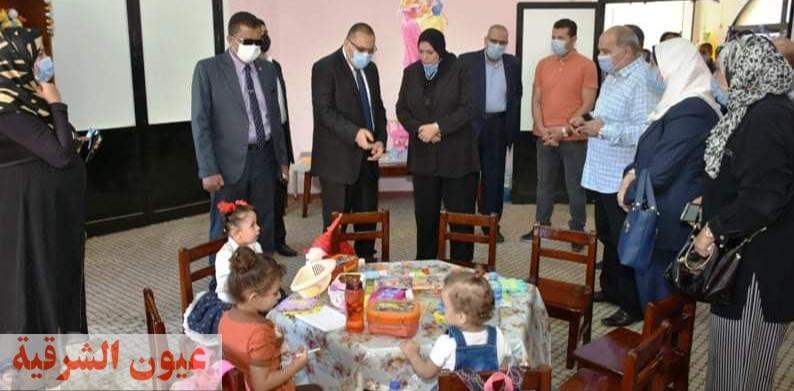 محافظ الشرقية يفتتح حضانة دار الطفولة بمركز التنمية الثقافية والتكنولوجية بمدينة الزقازيق