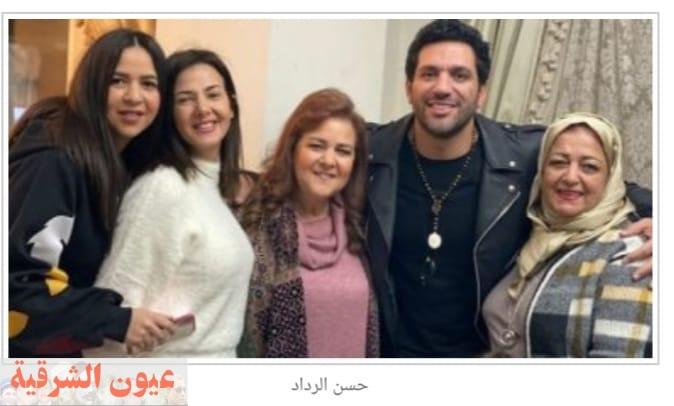 دنيا سمير غانم ورامى راضوان ينعيان والدة الفنان حسن الرداد