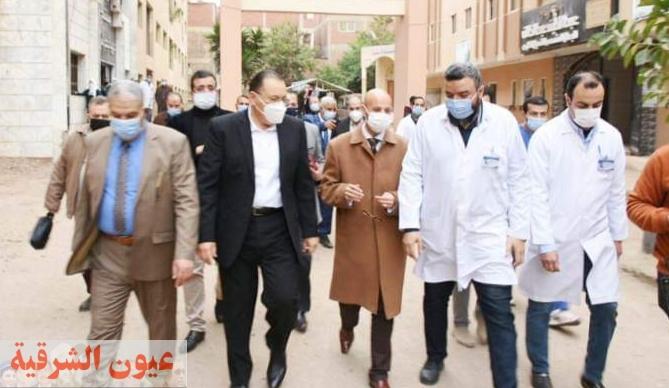 محافظ الشرقية يتفقد مستشفى ديرب نجم المركزي للإطمئنان على مستوى الخدمات الصحية والعلاجية المؤداه للمرضى