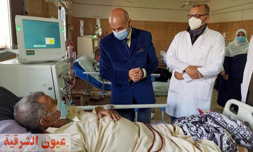 وكيل وزارة الصحة بالشرقية يتفقد أعمال التطوير والتوسعة الجارية بمستشفي ههيا المركزي