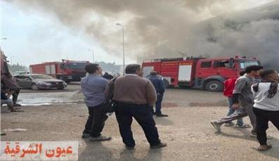 محافظ الشرقية يوصي بتوفير الرعاية الصحية لمصابي حريق مصنع أجهزة كهربائية بالعبور
