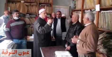 وكيل وزارة الأوقاف بالشرقية يوجه بتكثيف المرور على الإدارات و المساجد ومجازاة المقصرين في العمل
