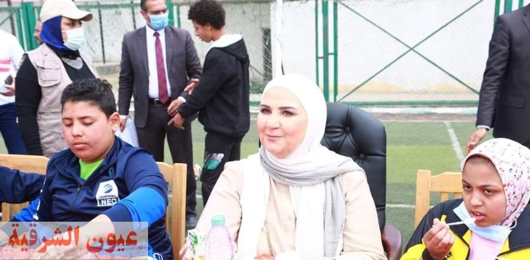 وزيرة التضامن الإجتماعي تشهد إحتفالية يوم اليتيم بالجيزة