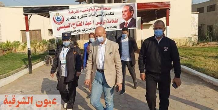 مسعود يتابع تطعيم المواطنين بلقاح كورونا في الشرقية