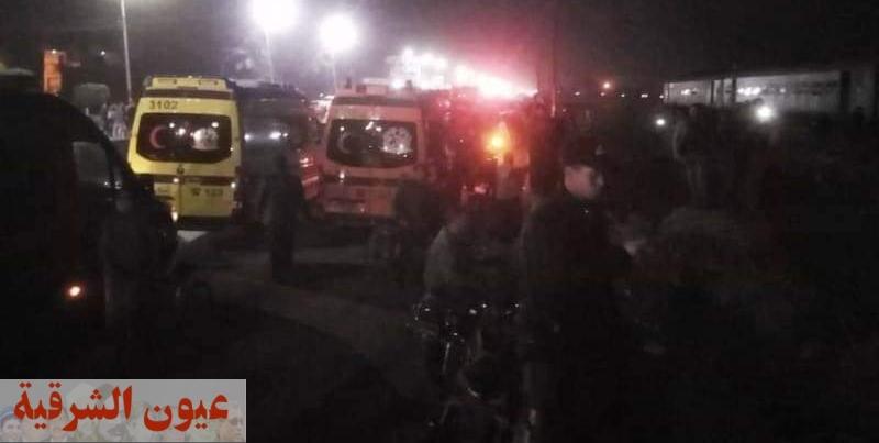 إرتفاع حالات الإصابة جراء إنقلاب عربيتي قطار ٣٣٩ بمدخل منيا القمح إلى ١٥ مصاب