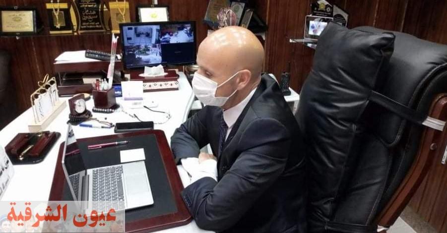 مسعود يعقد إجتماع مع مديرى المستشفيات و الإدارات الصحية عبر تقنية الفيديو كونفراس