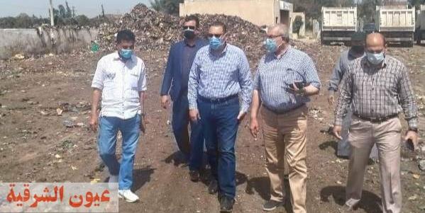 محافظ الشرقية ورئيس مدينة بلبيس يتفقدان مصنع تدوير القمامة
