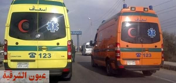 إصابة ١٣ شخص في حادث تصادم مروع بطريق ههيا / أبوكبير