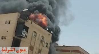 حريق هائل يلتهم مصنع بالمنطقة الصناعية الثالثة بالعاشر من رمضان
