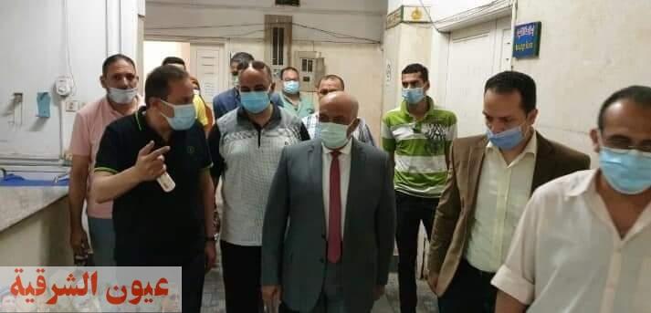 نائب رئيس جامعة الزقازيق لشئون التعليم والطلاب يتفقد الإدارة الطبية