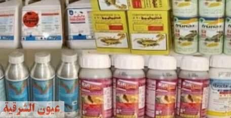 تموين كفر صقر يضبط ١٤٥ عبوة مبيدات زراعية مجهولة المصدر خلال حملات رقابية علي الأنشطة التجارية
