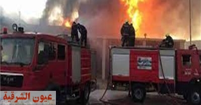 حريق هائل يلتهم مصنع أدوات كهربائية ببلبيس