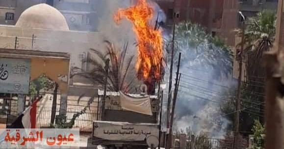 السيطرة على حريق هائل بمتحف أحمد عرابي بقرية هرية رزنة