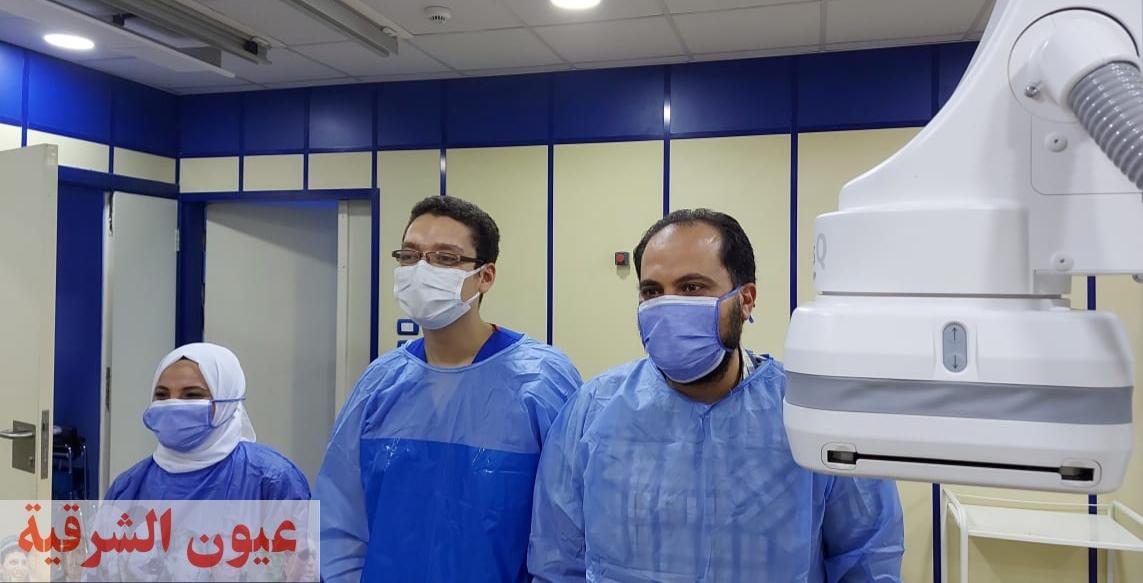 فريق القسطرة القلبية ينقذ حالة مرضية بمستشفي الزقازيق العام