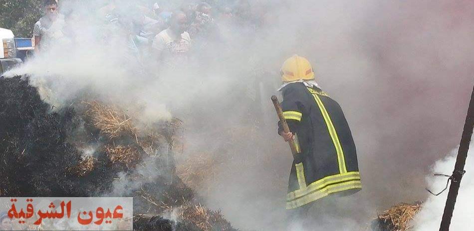 السيطرة على حريقين بمعلف ومزرعة دواجن بكفر محسن بالإبراهيمية.. ونفوق 22 رأس ماشية