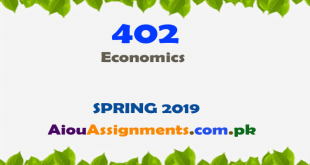 402 Solved Assignment Spring 2019 Economics