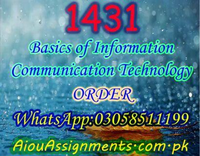 1431 Basics of Information Communication Technology BA Spring 2019