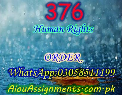 376 Human Rights FA Spring 2019 | AiouAssignments.com.pk