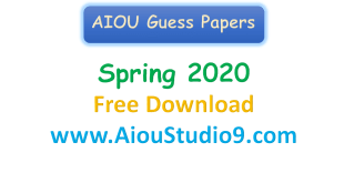 AIOU GUESS PAPER SPRING 2020