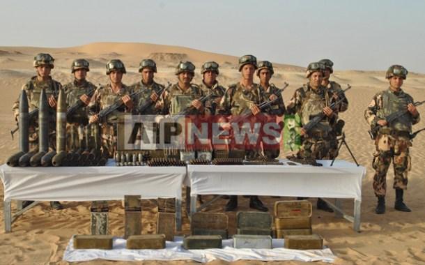 الجيش  يكتشف مخبأ للأسلحة قرب الشريط الحدودي الجنوبي بتمنراست.