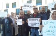 وقفة احتجاجية لعمال الأشغال العمومية بشرق البلاد.