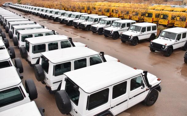الصناعات العسكرية لوزارة الدفاع الوطني..الإشراف على عملية تسليم (793) سيارة متعددة المهام من علامة مرسيدس- بنز.