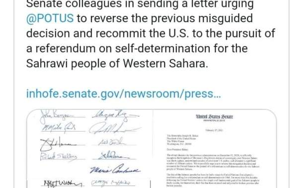 26 عضو من مجلس الشيوخ يراسلون بايدن للتخلي عن قرار ترامب بخصوص الصحراء الغربية