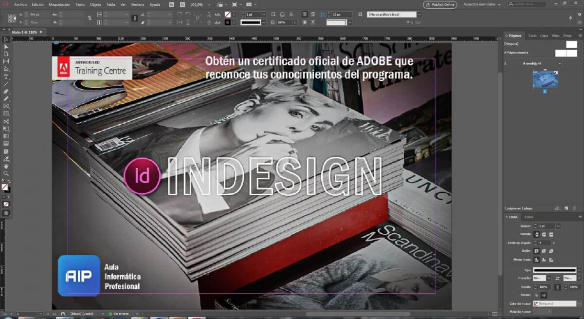 Curso de Indesign CC Certificado por Adobe