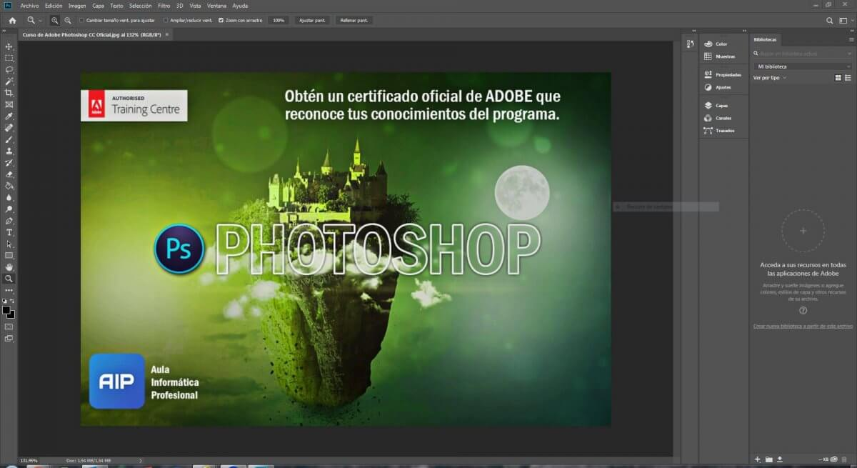 Curso de Photoshop CC Certificado por Adobe