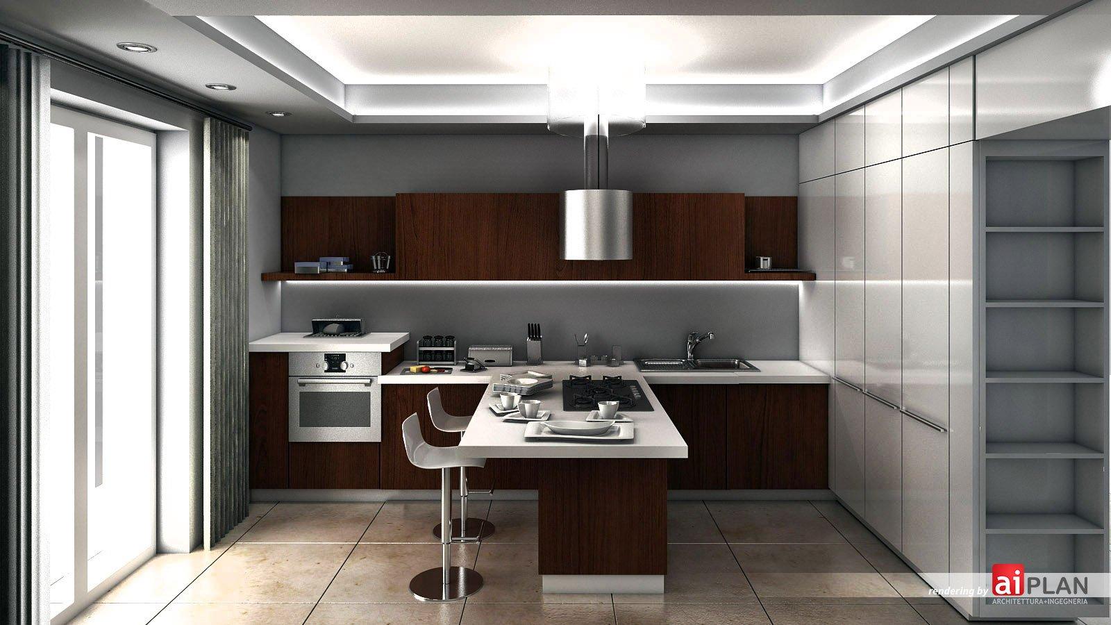 Rendering interni di residenze  Aiplan  architettura e