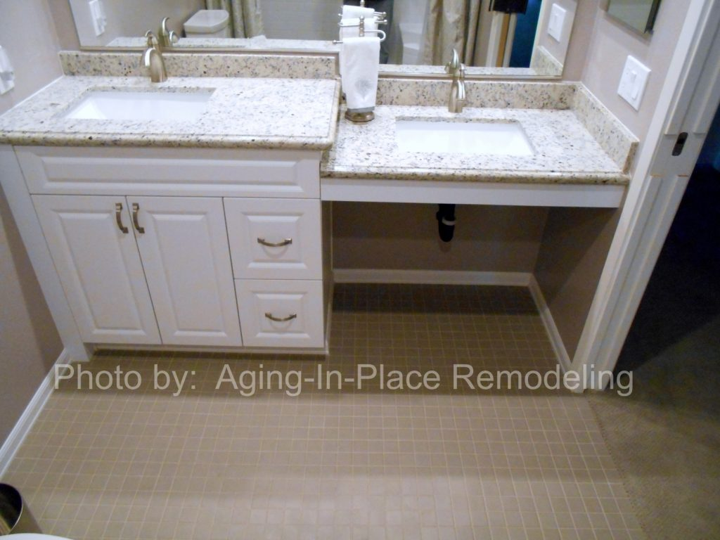 accessible sink aging in place remodeling