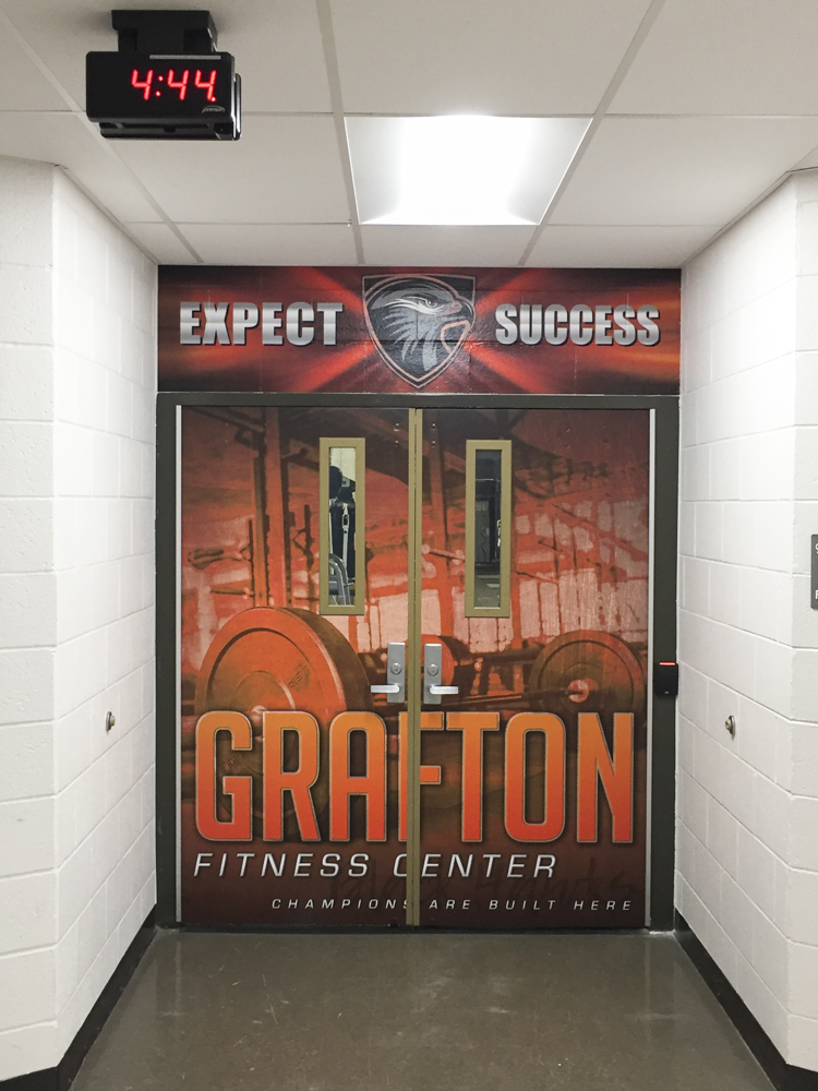 Grafton High School wrapped doors
