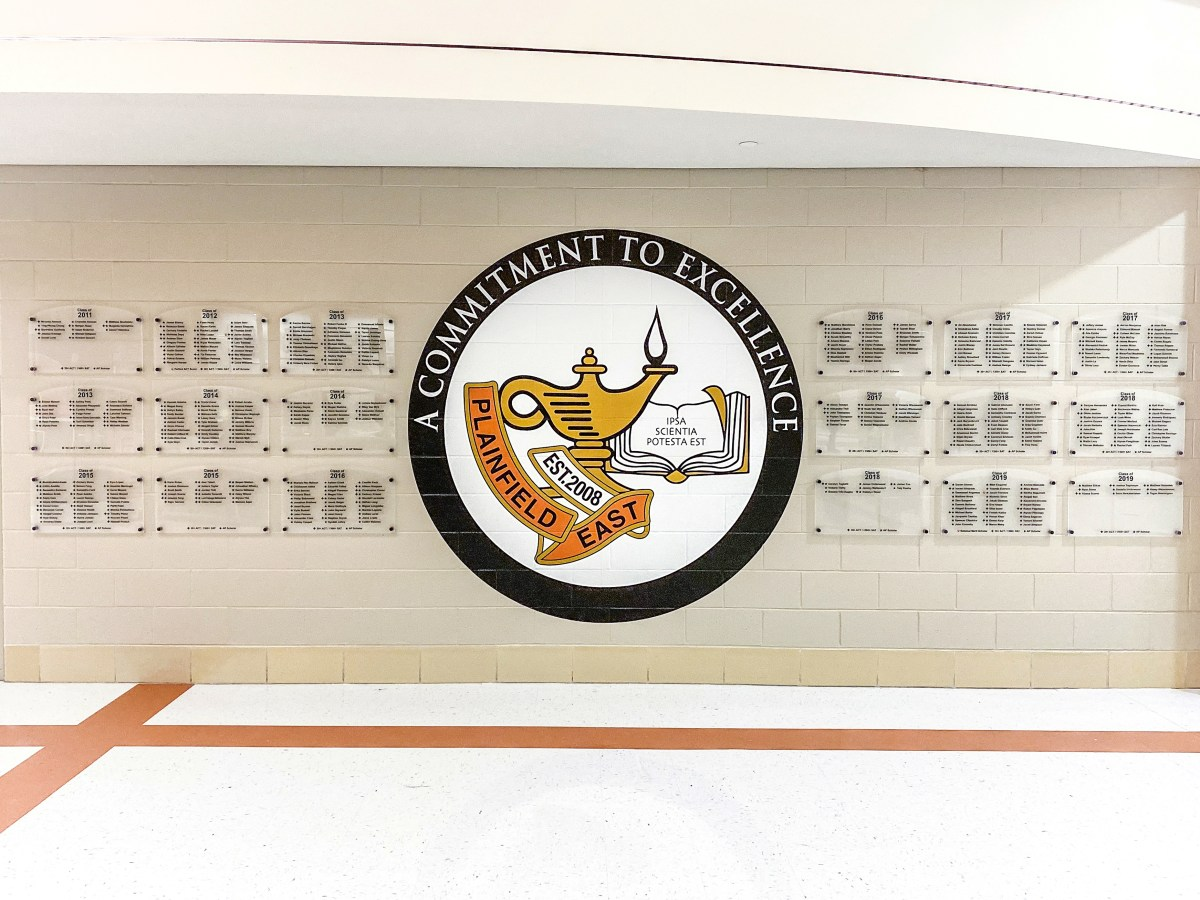 Plainfield East Achievement Recognition Wall